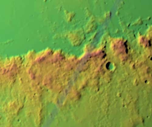 Центральные Апеннины, топографическая карта 2010, НАСА