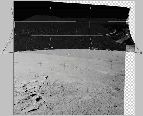 Аполлон 15 сетка искажений удаленного ландшафта