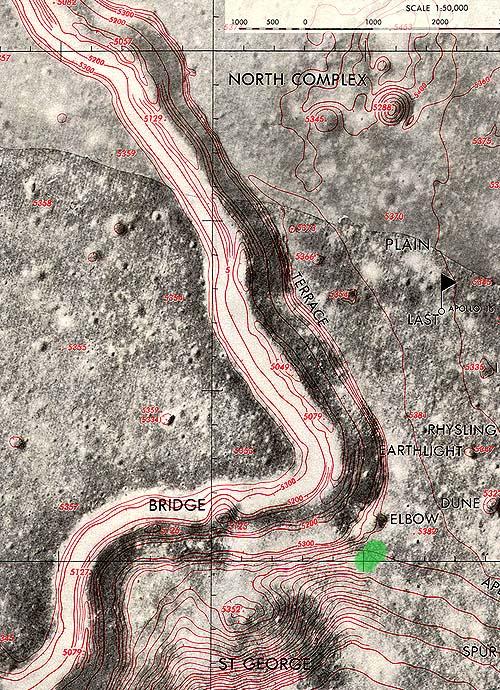 Топографическая карта разлома Хэдли