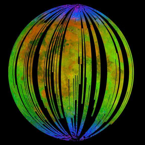 Распределение воды на Луне