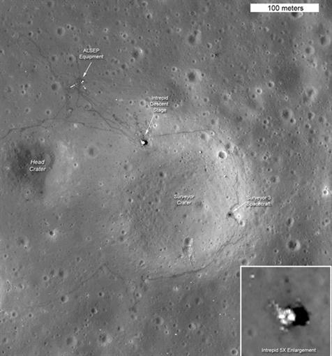 Снимок места посадки Аполлон-11
