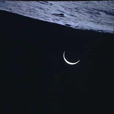 Фаза Земли при возвращении Аполлон-15 на Землю