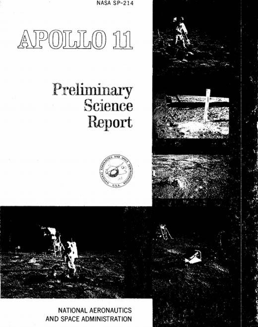 Официальный отчет НАСА Аполлон-11