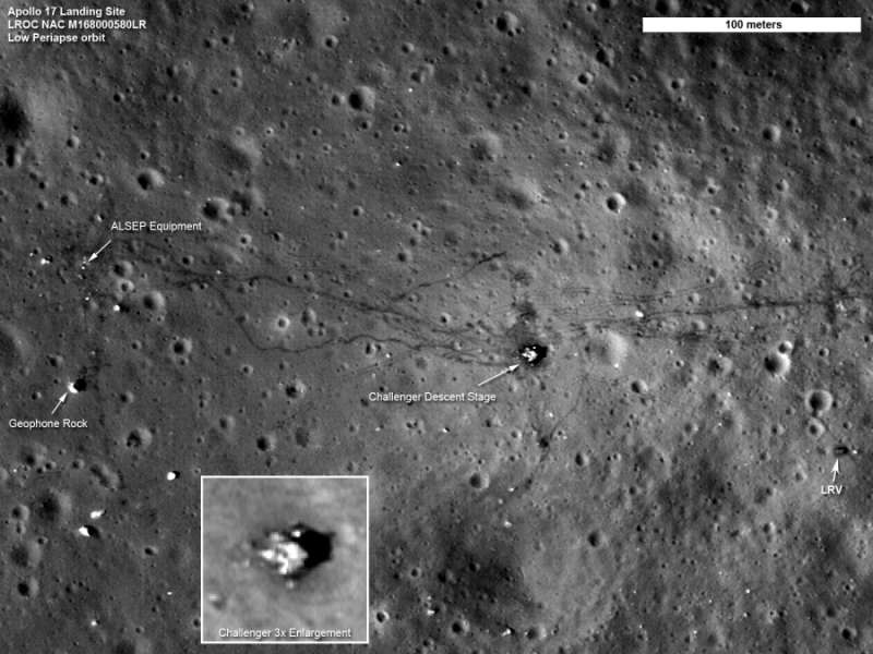 Место посадки Аполлон-17