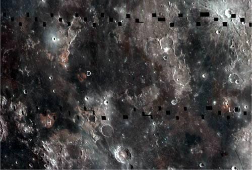 Титан и платина на Луне