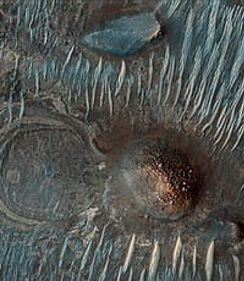Иней на Марсе