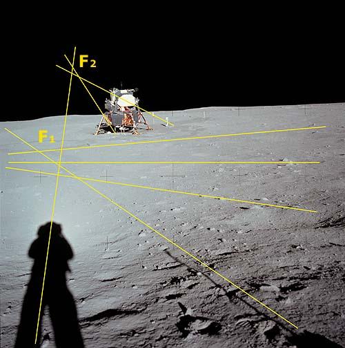 Нелепости фотографий Аполлон лунной миссии