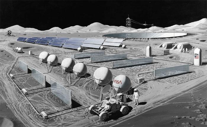 Лунная промышленная база