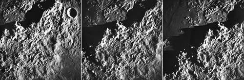 Апеннины с орбиты Луны