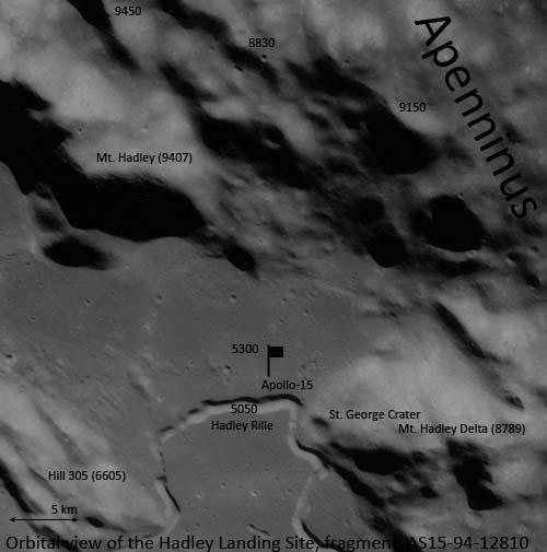 Вид Хэдлей с орбиты, Аполлон-15