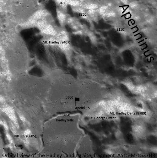 Вид Апеннин с орбиты