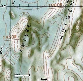 Топографическая карта Апеннин